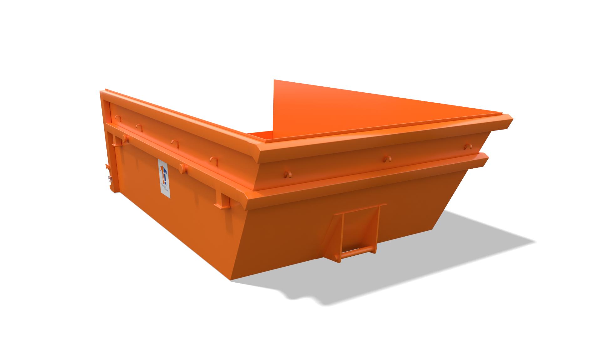 Låg container 5-8 m3